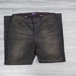 NYDJ Plus Size Chocolate Brown Coated Leggings 🔥